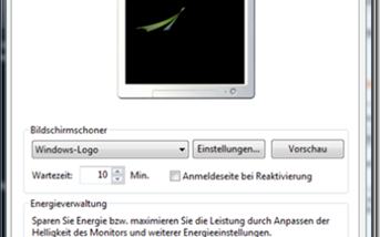 Bildschirmschoner unter Windows Vista einrichten