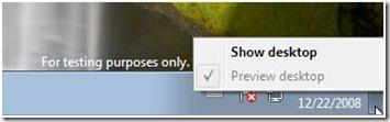 Superbar Windows 7 Desktop anzeigen
