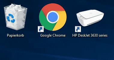 Desktop Symbole verkleinern und vergrößern