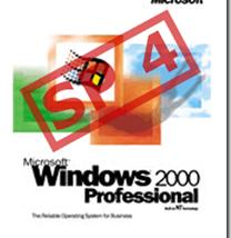 Service Pack 4 für Windows 2000