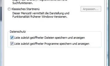 Startmenü von Windows Vista beschleunigen