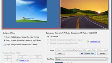 Verschiedene Hintergrundbilder auf Dual Monitoren