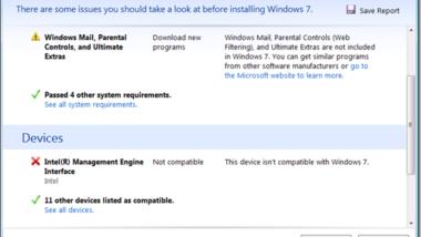 Windows 7 Upgrade Check