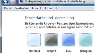 Transparente Vista Rahmen ein- bzw. ausschalten