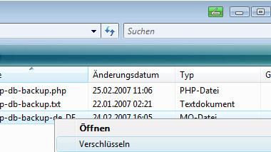Dateien verschlüsseln mit dem Vista Explorer