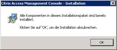 xenapp-bereits-installiert