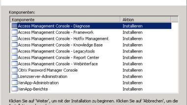 Citrix XenApp 5.0 Installation Erfahrungsbericht Teil 2