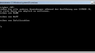 CIPHER – Dateien/Ordner sicher löschen