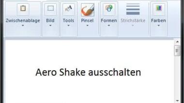 Aero Shake in Windows 7 ausschalten