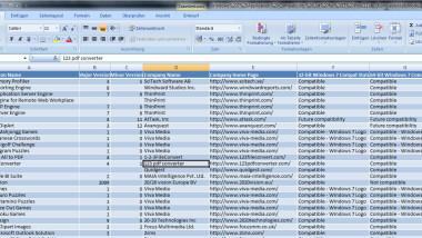 Liste der kompatiblen Programme unter Windows 7