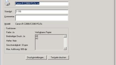 Zentrale Client-Druckereinstellungen von Netzwerkdruckern