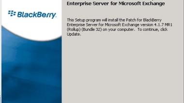 Service Pack 7 Maintenance Release 1 für Blackberry Enterprise Server 4.1.7