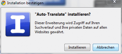 google-autotranslate-installieren