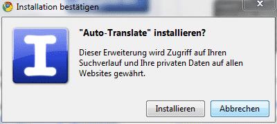 google-autotranslate-installieren
