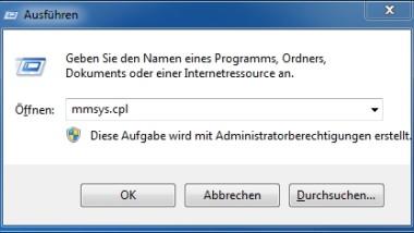 Klick-Töne im Windows Explorer bei Vista und Windows 7 ausschalten