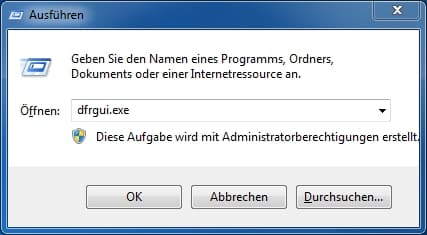 Windows Ausführen Tastenkombination Befehl Defragmentierung