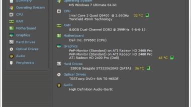 Hardware Informationen anzeigen mit Speccy (Tool)