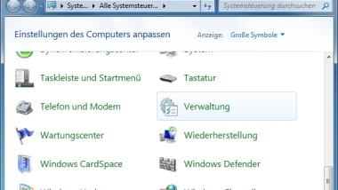 Windows 7 Verwaltungs-Programme direkt aus dem Startmenü aufrufen