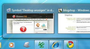 Anzeige der Vorschaubilder der Windows 7 Superbar beschleunigen