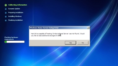Windows Home Server Installation unter VMWare