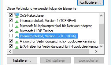 Teredo IPv6 Tunnel bei Windows 10, Windows 8.1 und Windows 7 deaktivieren