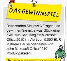 Microsoft Office 2010 Gewinnspiel – Preise im Wert von über 5.000€