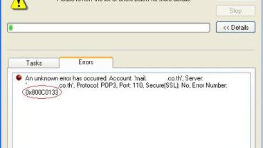 Outlook Express Fehler 0x800C0133