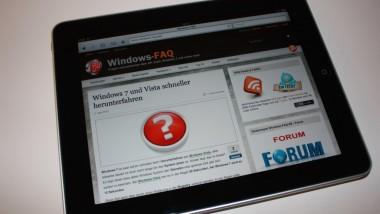Windows-FAQ.de auf dem iPad – GENIAL !!