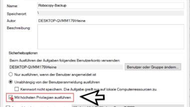 Robocopy – Fehlende Rechte zum Verwalten von Überwachungsprotokollen