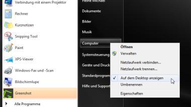"""""""Computer"""" Icon auf dem Windows 7 Desktop anzeigen"""