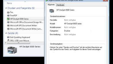 Windows 7 Treiber für HP DeskJet 6500