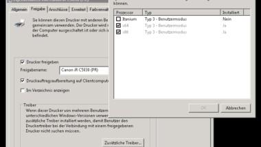 32-Bit Drucker Treiberprobleme auf einem Windows Server 2008 R2