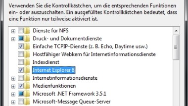 Internet Explorer 8 (IE8) unter Windows 7 deinstallieren