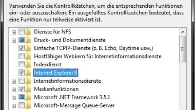 Internet Explorer 8 (IE8) unter Windows 7 deinstallieren