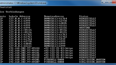 Aktuell offene Netzwerk- und Internetverbindungen anzeigen – NETSTAT incl. Parameter