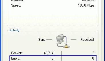 Netzwerkfehler im Statusfenster bei Windows XP