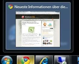 Vorschaufenster (Thumbnails) in Windows 7 schneller anzeigen