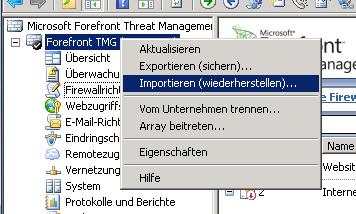 ISA Server 2004 Update auf ForeFront TMG 2010 – Erfahrungsbericht
