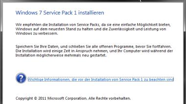 Windows 7 Service Pack 1 (SP1) Installation (KB976932)