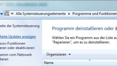 Internet Explorer 9 (IE9) deinstallieren