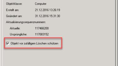 Organisationseinheiten (Container) trotz Schutz im Active Directory löschen