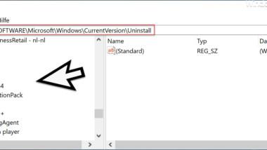 Einträge der Windows Softwareliste manuell löschen