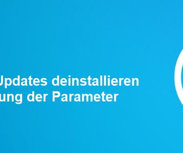 Windows Updates deinstallieren mit WUSA.EXE