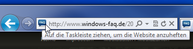 Pinning im Internet Explorer 9 (IE9)