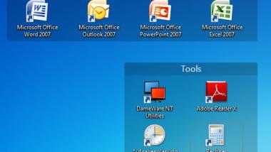 Desktop Symbole sinnvoll anordnen mit Fences