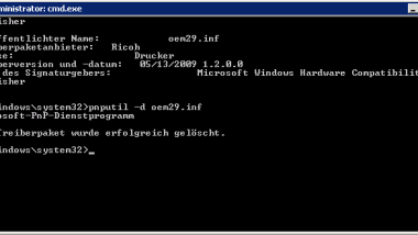 Treiberpakete (Drucker) von einem Windows Server 2008 R2 löschen