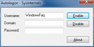 Automatische Anmeldung bei Windows 7