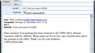 UPS Virus im Umlauf (EXE-Datei in Zip-File)