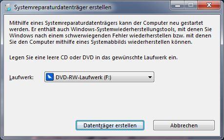 Recdisc Windows 7 Recovery CD