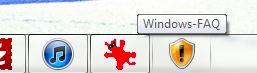 Windows Faq in der Taskleiste mit Symbol